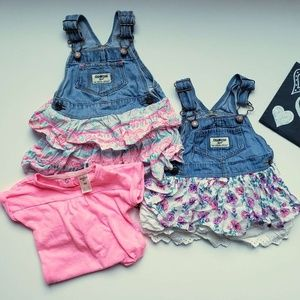 OshKosh baby girls overall bundle